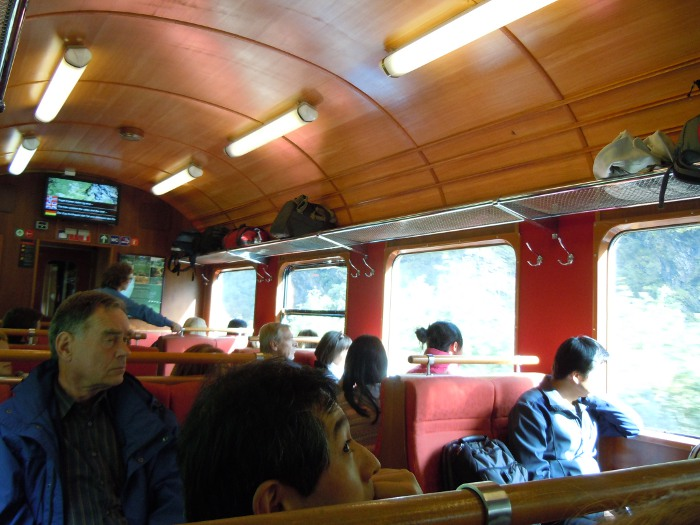 Inside Flamsbana Train