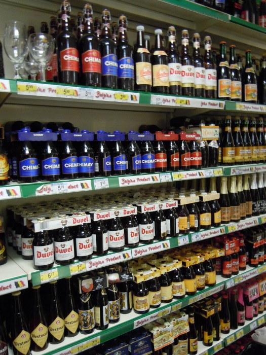 Belgium - Beers at Carrefour