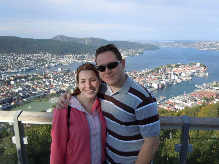 At the top of Bergen