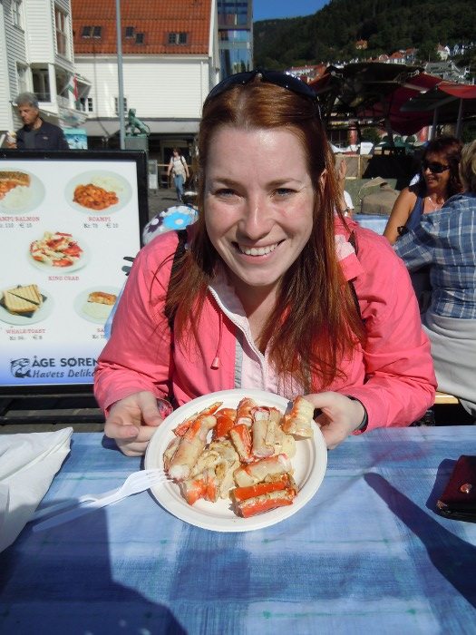 Roberta with the King Crab