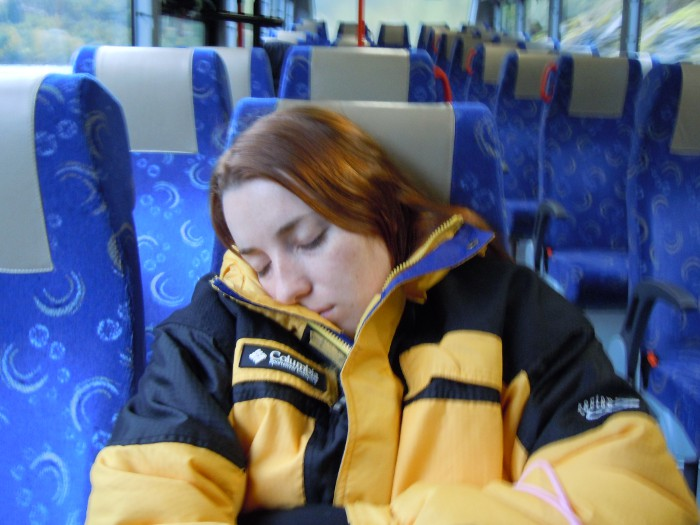 Roberta at the Glacier Bus