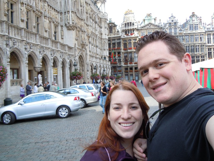 Romance at the Grand Place in Brussels, Belgium