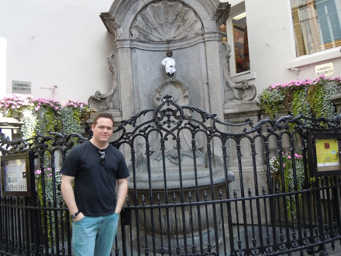 Me and the Manneken Pis in Brussels, Belgium