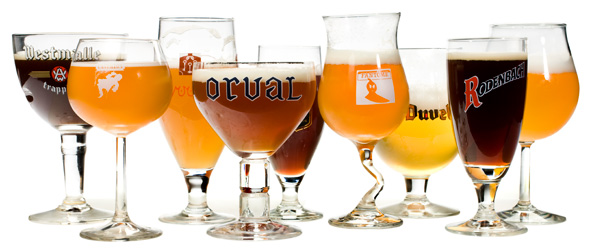 Belgian beer glasses